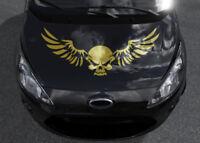 Aufkleber Totenkopf Auto Skull XXL Motorhaubenaufkleber Flügel klein groß Tattoo