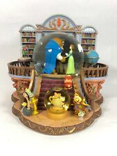 Disney Store Snowglobe Beauty & The Beast There's Something There Library Rose!