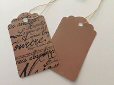 30 Mix of Paris Script & Craft Type Strung Price Tags~Junk Journals~Gift Tags