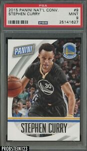 2015 Panini National Convention #9 Stephen Curry Warriors PSA 9 MINT