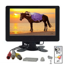 "7"" TFT LCD CCTV Monitor BNC HD 1024*600 Screen AV Input for Home Security System"