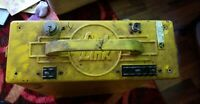 vintage Link tube radio, yellow hard case Maine Civil Defense Agency