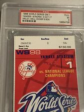 "New York Yankees ""World Series"" Owners Box! FULL Ticket George Steinbrenner PSA"