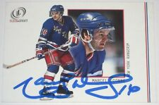 MARCEL DIONNE SIGNED FLEER LEGACY NEW YORK RANGERS CARD AUTOGRAPH AUTO!!