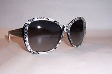 NEW DOLCE & GABBANA MIX&MATCH DG 4132 25028G BLACK white/GRAY SUNGLASSES
