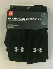 Under Armour Men's Charged Cotton 6-Pack Crew Socks HD3 Black Size 8-12