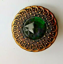 Vintage large gold metal 'emerald' cut large sewing button