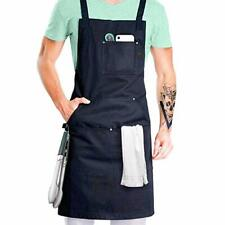 Professional Grade Chef Apron for Cooking, Kitchen, Bbq, and Grill (Black)