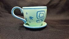 Disney Parks Alice In Wonderland Coffee Mug Tea Cup Ride Green Blue