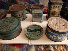Vintage Lot Of antique Blue Tin Cans.