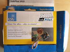 ESU 54611 LokPilot H0 Decoder V4.0 DCC/RailCom Kabelbaum 8pol. Stecker NEU OVP