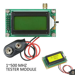 High Accuracy RF 1~500 MHz Frequency Counter Meter Tester Module For Ham Radio