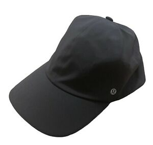 LULULEMON HAT ONE SIZE BLACK ATHLETIC RUNNING ACTIVE CURVED BRIM