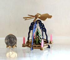 Dollhouse Miniature German Christmas Woodland Pyramid w/Candles by Silvia Leiner