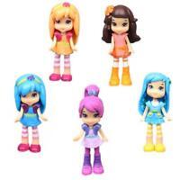 6PCS/Lot Strawberry Shortcake Dolls Princess Girl Action Figures Toys