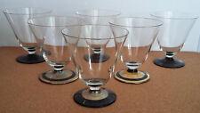 6 x Likörglas Glas Kristallglashütte Gistl 1950 Schnaps Vintage Gold Frauenau