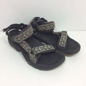 Teva Terra Fi Hiking Water Sport Sandals Men's Size 9 Black Gray Hiking Tevas