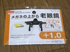 DAISO JAPAN Optical Clip-on Flip-up Magnifying Reading Glasses F/S  +1.0