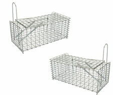 2x Heavy Duty Live Catch And Release Rat Trap Cage Indoor Outdoor Mouse Trap