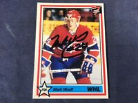 K4-17 HOCKEY CARD - MARK WOOLF - AUTOGRAPHED - 1991 7th INNING SKETCH
