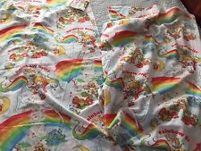 VINTAGE RAINBOW BRITE TWIN SHEET SET FLAT & FITTED SHEETS CUTTER CRAFTS FABRIC