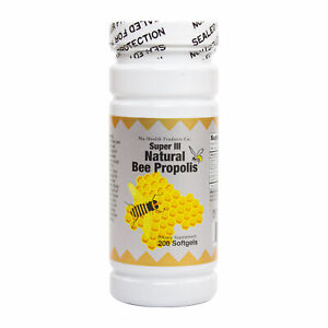 Super Natural Brazil Bee Propolis 200 Softgels Fresh, Made In USA, Global Ship