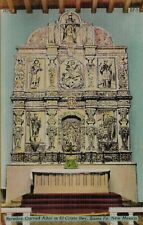 VTG Reredos Carved Altar in El Cristo Rey Santa Fe New Mexico NM Postcard