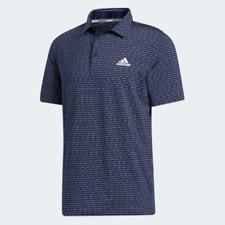 Adidas Men's T shirt Ultimate365 Space Dye Stripe Striped Golf Polo Shirt