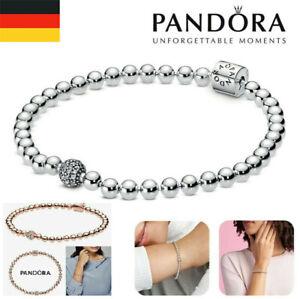 Pandora Armband Beads & Pavé S925 Sterling Silber mit Geschenktüte 17-21 CM