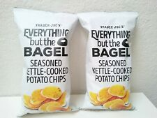 2 X Trader Joe's Everything But The Bagel Seasoned Kettle Cooked Potato Chips