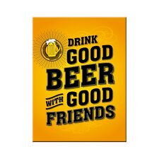 Good Beer with Friends Kühlschrankmagnet Fridge Refrigerator Magnet 6 x 8 cm