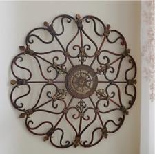 Iron Wall Medallion Antique Metal Hang Decor Vintage Outdoor Indoor Patio Art