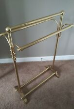 Towel Stand/ Quilt Blanket Rack Solid Brass Mid Century Hollywood Regency
