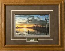 """Mary Pettis /"""" Autumn Glow/"""" Duck Cabin /"""" Print  29/"""" x 19/"""" Signed and Numbered"""
