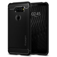 Spigen® LG V30 [Rugged Armor] Shockproof Case Slim TPU Cover