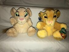 "Disney Applause Lion King Plush Simba and Nala Hand Puppets Lot Set 8"" Vintage"
