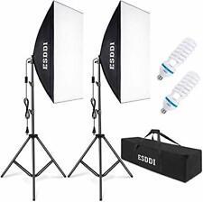 Esddi Softbox Photography Lighting Kit 800W Continuous Photo Studio Equipment wi