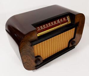 Old Antique Wood Truetone Vintage Tube Radio -Restored Working Deco Table Top