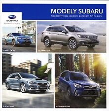 Subaru Model Range 2016 catalogue brochure slovak WRX STI BRZ Forester