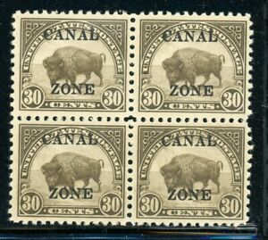 """CANAL ZONE MLH Multiple Selections: Scott #93 30c Olive Brown SHARP """"A"""" CV$25+"""