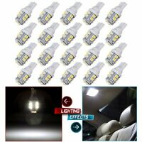 20PCS Car White LED Light T10 10SMD Wedge W5W 2825 158 192 168 194 LED Bulbs