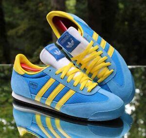 Adidas Originals Dragon Men's Size 10 Bleu Light Blue Yellow V24705