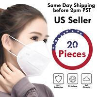 20 PCS KN95 5Layers Breathable Disposable Respirator Face Mask Non Medical Cover