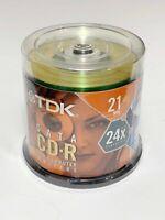 NEW TDK Data Mini CD-R Compact Disc 50 Pack 24X 185mb 21 Minute Jewel Cases Lot