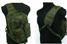 Army Green Molle Tactical Utility Sling Shoulder Bag Backpack Hunting Pouch Bag