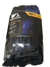 Wells Lamont Mens Work Gloves Foam Latex Coating Knit Liner Large 10 Pairs