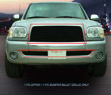 Fits 03-06 Toyota Tundra Black Billet Grille Grill Combo