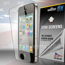 6x Ultra Clear HD Screen Protector Cover Film for Apple iPhone 4 4G 4S