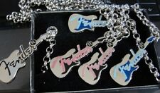 FENDER GUITAR NECKLACES (Licensed Jewelry)GREY/SILVER LAST ONE LEFT