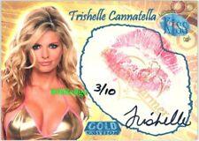 2007 BENCHWARMER GOLD AUTO KISS:TRISHELLE CANNATELLA/10 AUTOGRAPH